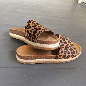 yokono Shoes | Leopard Print Faux Hair